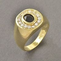 Fashion design real 9k gold filled onyx & zircons ring size 10 ! Gift & Jewelry