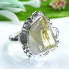 Fine pretty Rutilated Quartz silver 925 ring size 7 1/4 ! Gift Jewelry and Love