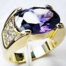 Fashion desaign 10kt gold filled set amethyst man ring size 10 ! Gift & Jewelry