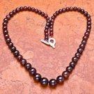 Fine fashion natural garnet gemstone beaded necklace ! Gift Jewelry & Love