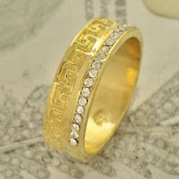 Fashion desaign real gold filled cubic zircon man ring size 9 ! Gift & Jewelry