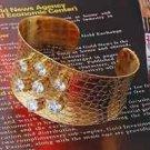 18KGP 7 white CZ(Zircon) fashion Lady Bangle - Bracelet ! Gift Jewelry and Love