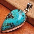 Natural chrysocolla gemstone 100% solid 925 sterling silver pendant & Necklace