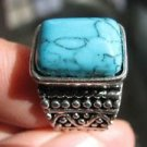 Fashion Thailand silver ring blue Turquoise stone size 6.25 Gift Jewelry & Love