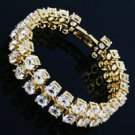 Fashion 18K Gold Plated white Rhinestone lovely Bracelet ! Gift Jewelry & Love