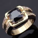 Fashion desaign 10k gold filled black sapphire man ring size 10 ! Gift & Jewelry