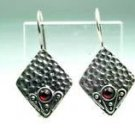 Fine fashion sterling silver earrings - red Ruby gemstone ! Gift Jewelry & Love