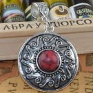 Fashion Tibet silver set red Turquoise pendant + necklace ! Gift Jewelry & Love