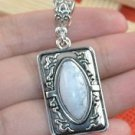 Fashion Tibet silver set white Turquoise pendant necklace ! Gift Jewelry & Love