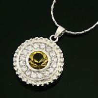 Elegant 18k Gold Plated crystal zircon pendant necklace ! Gift Jewelry & Love