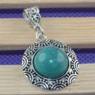 Fashion Tibet silver set green Turquoise pendant necklace ! Gift Jewelry & Love