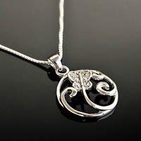 sterling silver 925 butterfly garden art pendant & necklace Gift Jewelry & Love