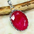 Silver 925 pendant set Ruby gemstone & sterling 925 necklace ! Jewelry& Gift