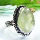 Pretty natural Prehnite silver 925 ring size 7 1/2 ! Gift Jewelry & Love