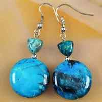 Fashion Mix color Crystal Rivets Round Dangle Earrings ! Gift Jewelry & Love