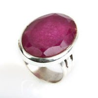 Special fashion sterling ring - set like ruby stone ! Gift Jewelry & Love