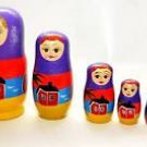 6 Beautiful vintage russian babushka matryoshka dolls ! Gift Jewelry & Love