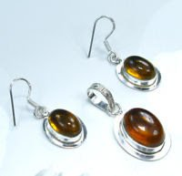 Citrine quartz earrings & pendant & necklace silver 925 ! Gift Jewelry & Love