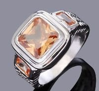 Fashion desaign 10k real gold filled zircon man size 11 ! Gift Jewelry & Love
