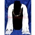 Acrylic & Cotton Scarf Shawl Pendant Necklace ! Jewelry & Fashion Accessories