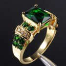 Fine stamped 10k gold filled set Emerald unisex ring size 11 ! Gift & Jewelry