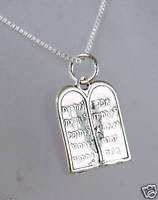 Silver 925 pendant - two tablets of Ten Commandments
