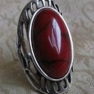 Fashion Classic style natural red coral silver ring size 9.5 ! Gift & Jewelry