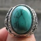 Fashion silver ring , natural Turquoise gemstone size 10 ! Gift Jewelry & Love
