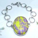 Beautiful mosaic jasper stone silver 925 bracelet ! Woman & Man gifts