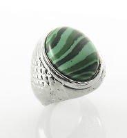 Fashion silver 925 plate ring set Malachite stone size 10 ! Gift Jewelry & Love