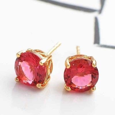 Details about  fashion jewelry gold filled Swarovski Crystal Stud earrings free shipping B312