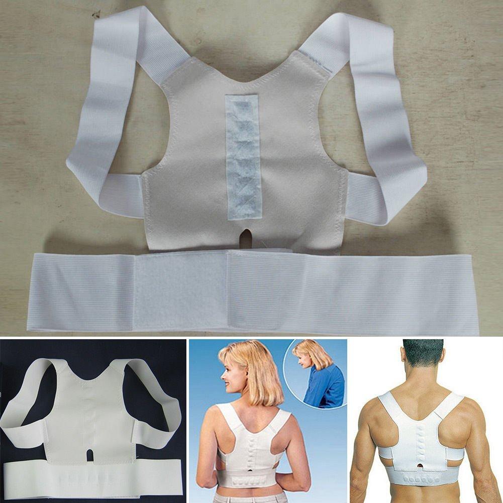 Magnetic Posture Back Shoulder Pain Corrector Straighten out Brace Belt Unisex