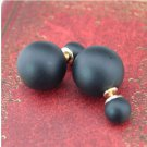 1pair Women Fashion Candy Color Crystal Golden Pearl Ear Stud Earrings Jewelry