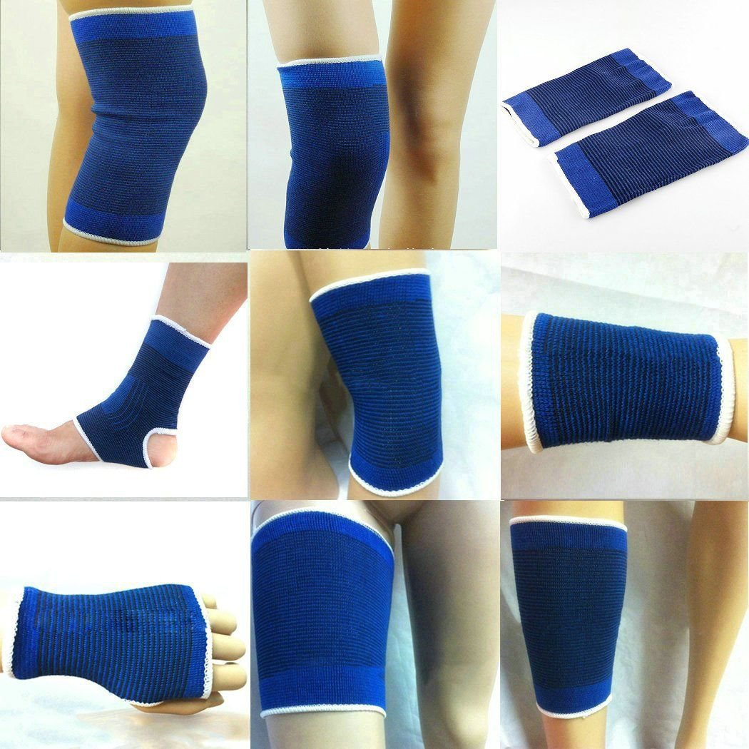2Pcs Elastic Ankle Elbow Wrist Palm Calf Brace Support Band Sports Gym Protector