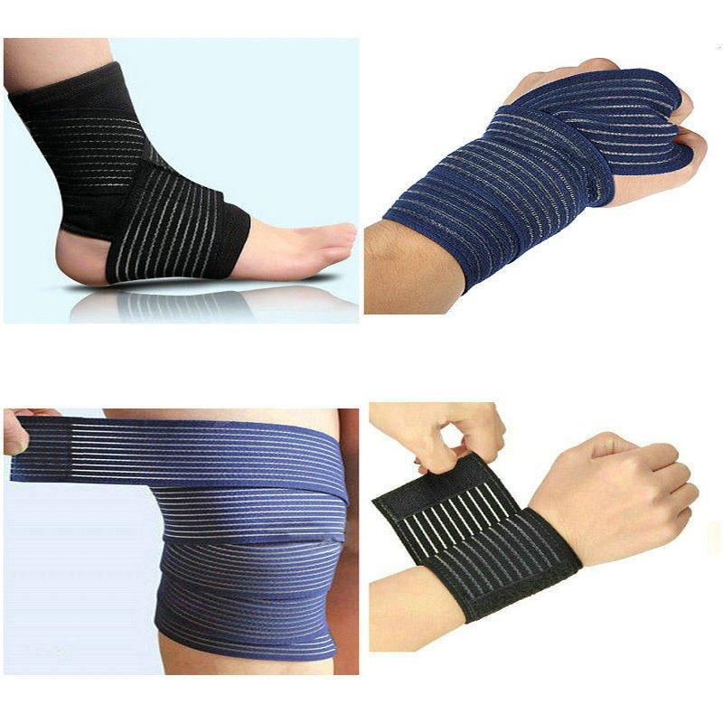1Pcs black Elastic Sports Bandage Wrap Wrist Knee Elbow Ankle Support Stabilizer Belt 40cm