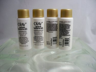 Olay Active Botanicals 4 pcs travel size 2x Day Moisturizer & 2x Toner