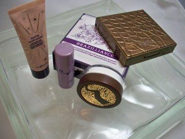 Tarte 6 pcs. travel sz Bronzer, Lip, Serum, Brazilliance, Powder & Maracuja Oil
