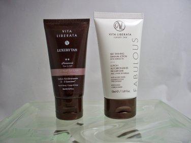 Vita Liberata set of 2 Luxury Self Tanning lotions travel size