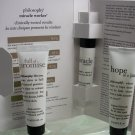 Philosophy 3 pcs Travel Set Miracle Worker Eye, Hope in a tube & Full of Promise
