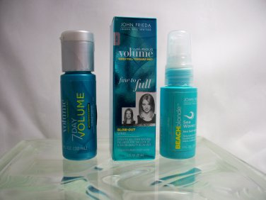 John Frieda Hair Products Travel Trio 7 Day Volume, Fine to Full & Sea Waves
