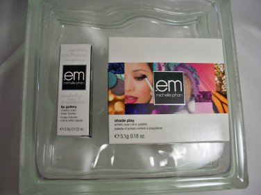 em by michelle phan Duo Shade play eye color palette Bali Bronzes & Lipstick