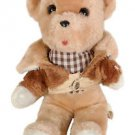 Dan Brechner Stuffed Animal Plush Tan Teddy Bear Toy Pink
