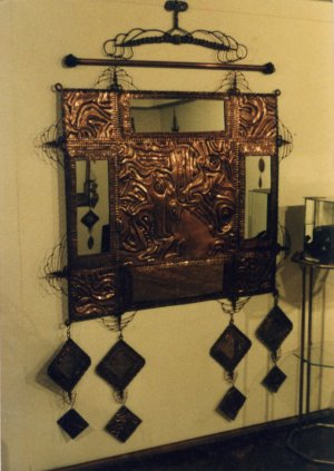 5'x'4 Embossed Copper Panel