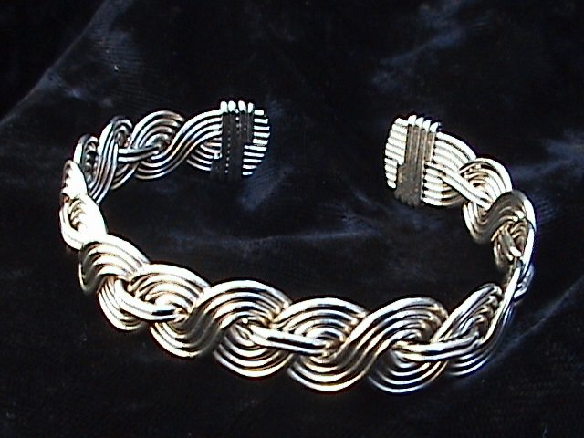 Braided Multistrand Bracelet ( Shown in Nickle Silver )