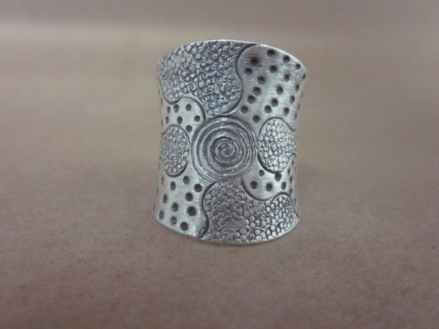 Fine Fashion silver Rings Hill tribe thai karen solid Vintage spirale Typhoon