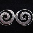 Fashion silver earrings Thai Hill tribe Argento ORECCHINI Spirale ohrringe ER38