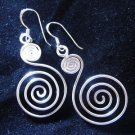 Fashion earrings Hill tribe Genuine silver thai karen tribal spiral wire ER15