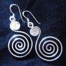 Fashion earrings Hill tribe Genuine silver thai karen tribal spiral wire ER15