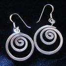 Fashion earrings Hill tribe Pure silver boho tribal Spirale dangle thai ER96