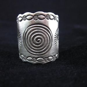 Fine Fashion Rings THAI KAREN HILL TRIBE Genuine Solid pure Silver Spiral cute